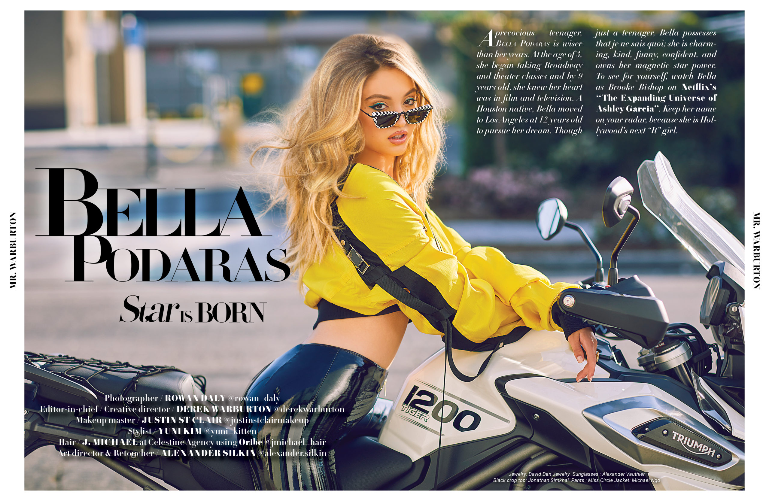 Mr. Warburton Magazine Bella Podaras Star is Born
