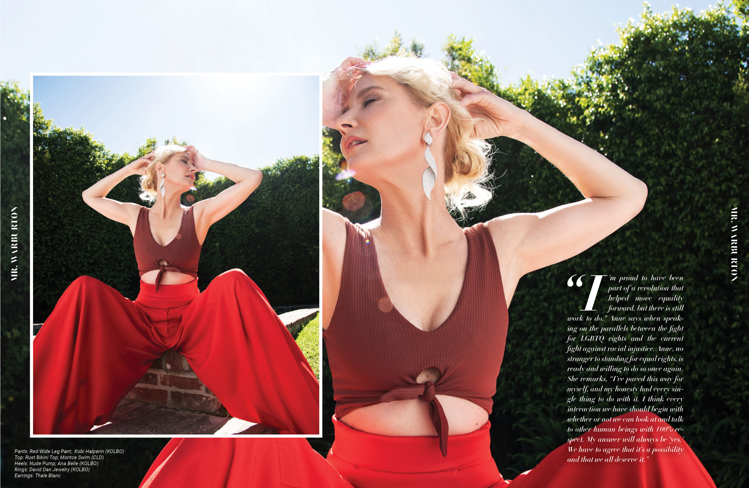 Mr. Warburton Magazine Anne Heche