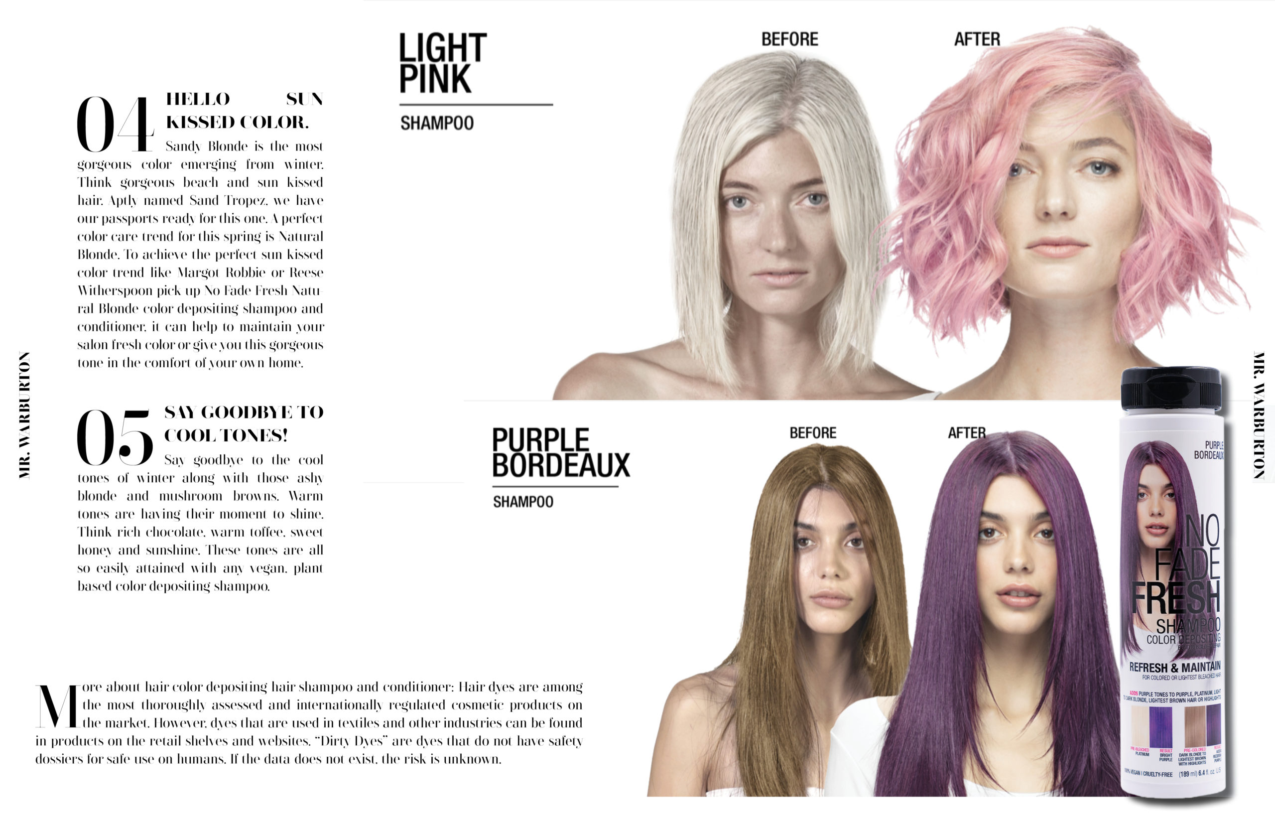 Mr. Warburton Magazine Clean Hair Color