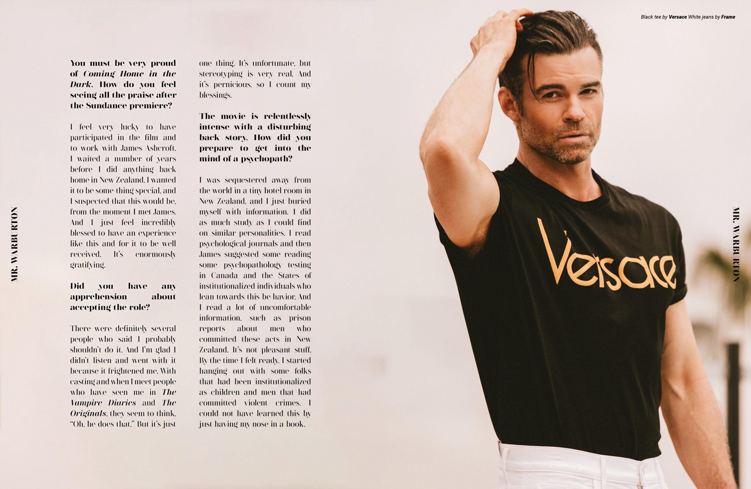 Mr. Warburton Magazine Daniel Gillies