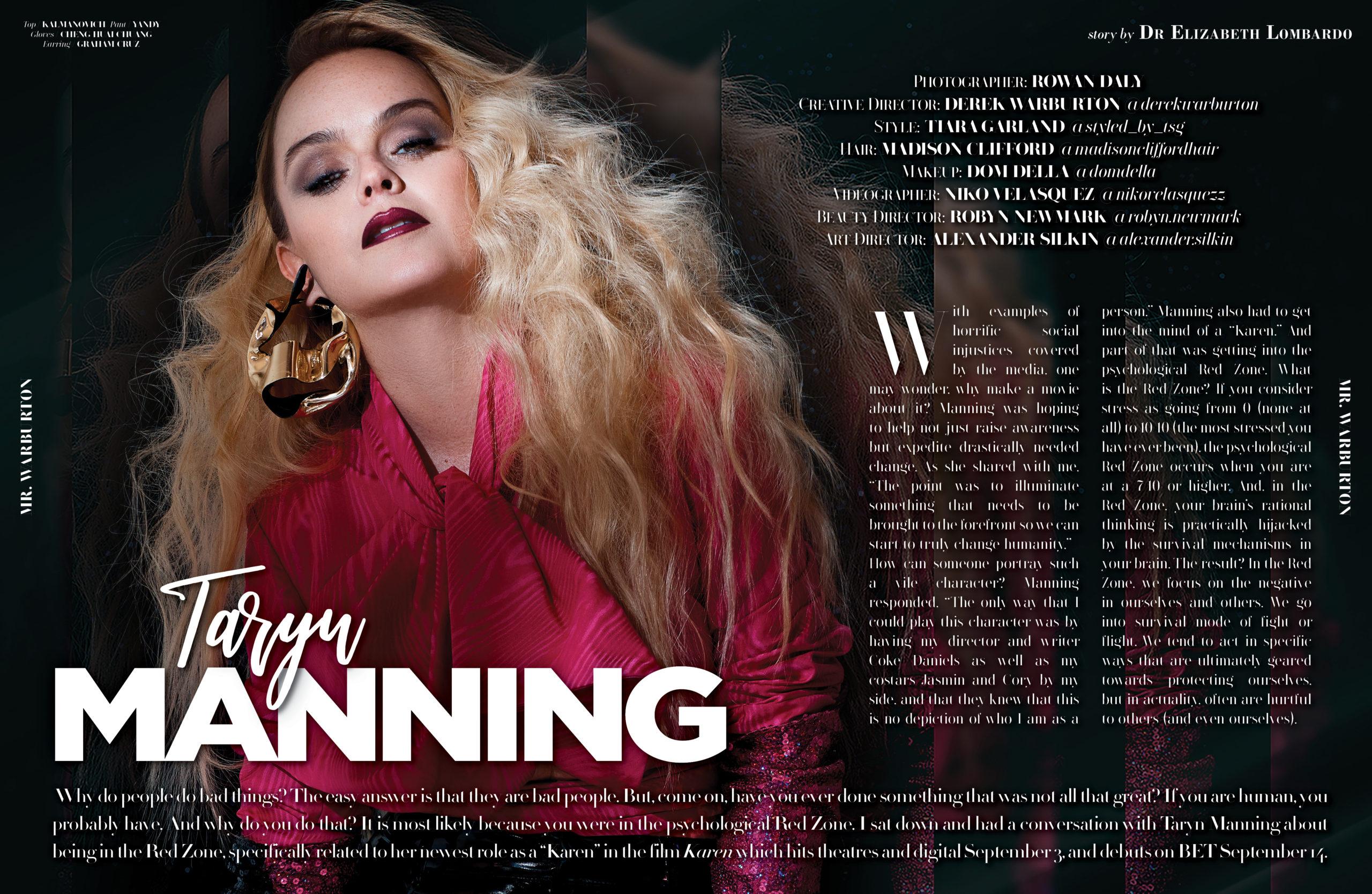 Mr. Warburton Magazine Taryn Manning